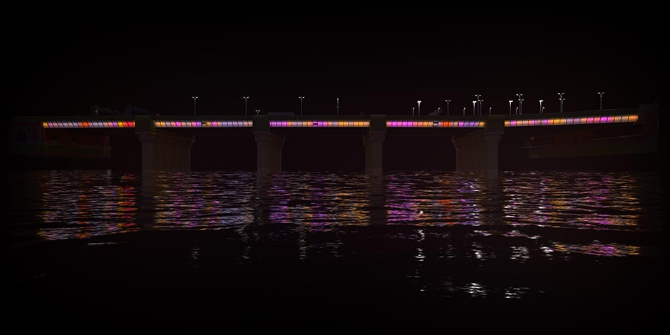 Signify 05 Cannon Street Bridge Illuminated River Leo Villareal Studio 2018